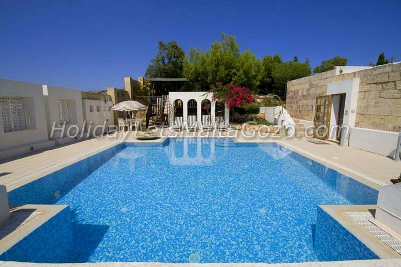 Superb Private Swimming Pool in the shape of a Cross