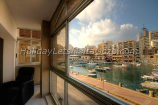 Holiday Let Malta St. Julians Apartment spinola bay view