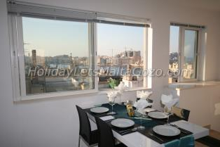 Holiday Let Malta Valletta Penthouse with Sea View old mint penthouse